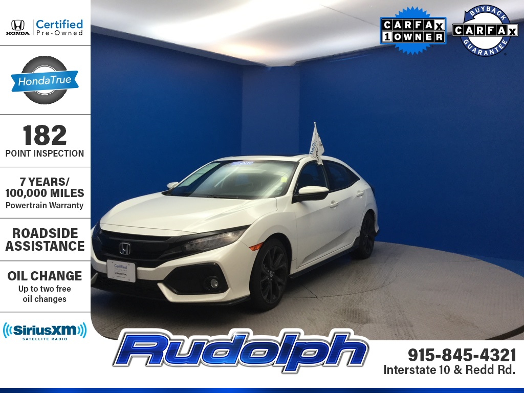 Certified Pre-Owned 2019 Honda Civic Sport Touring